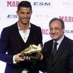 Cristiano Ronaldo responds favorably to Florentino Perez's radio comments